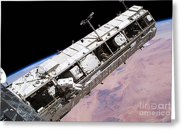 Relaying Greeting Cards - Discovery Heat Shield Repair Greeting Card by NASA / Science Source