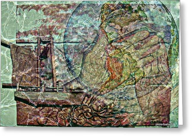Discovery Mixed Media Greeting Cards - Discovery Of America Greeting Card by Paulo Zerbato