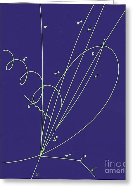 Particle Detector Greeting Cards - Discovery Of Charmed Baryon Quark Greeting Card by Science Source