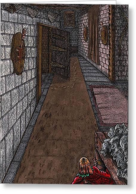 Disembodied Footprints Greeting Card by Al Goldfarb