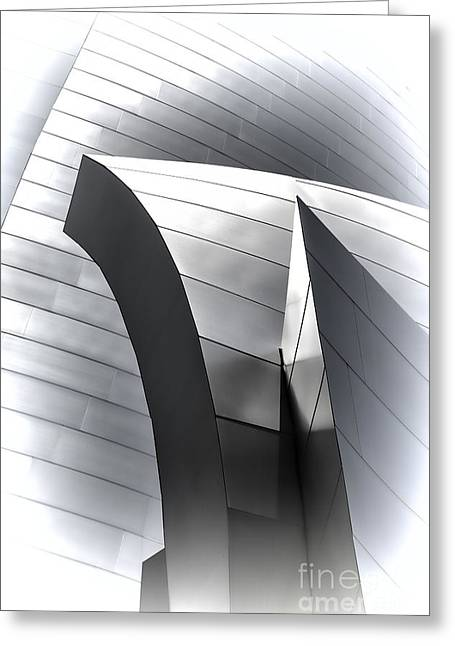 Stainless Steel Greeting Cards - Disney Angles I Greeting Card by Chuck Kuhn