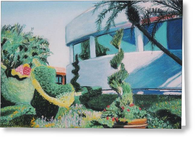 Florida Flowers Pastels Greeting Cards - Disney Epcot Topiary Greeting Card by Dana Schmidt