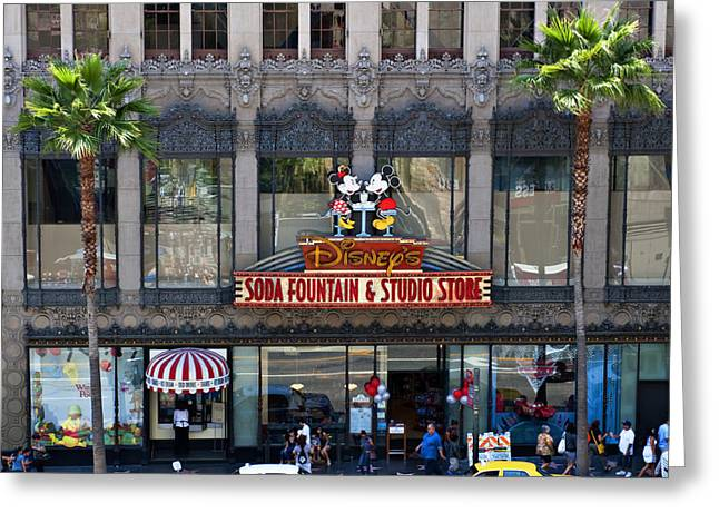 Plant Hollywood Greeting Cards - Disney in Hollywood Greeting Card by Malania Hammer