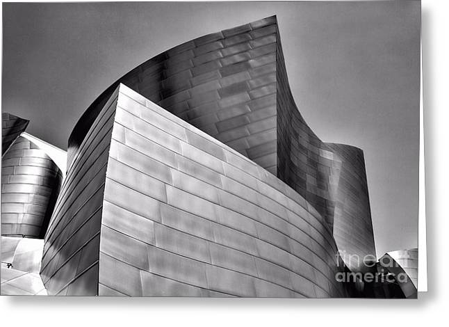 Music Center Greeting Cards - Disney Music Hall BW II Greeting Card by Chuck Kuhn