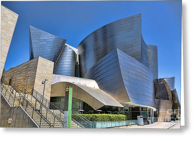 Music Center Greeting Cards - Disney Music Hall II Greeting Card by Chuck Kuhn