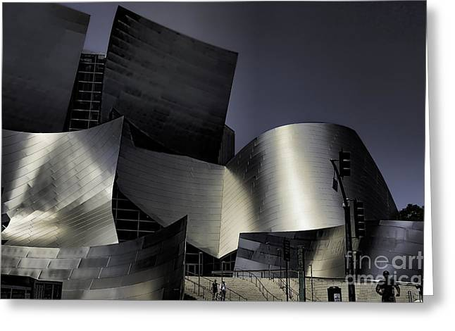 Music Center Greeting Cards - Disney Music Hall VI Greeting Card by Chuck Kuhn