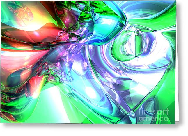 Loose Digital Greeting Cards - Disorderly Color Abstract Greeting Card by Alexander Butler