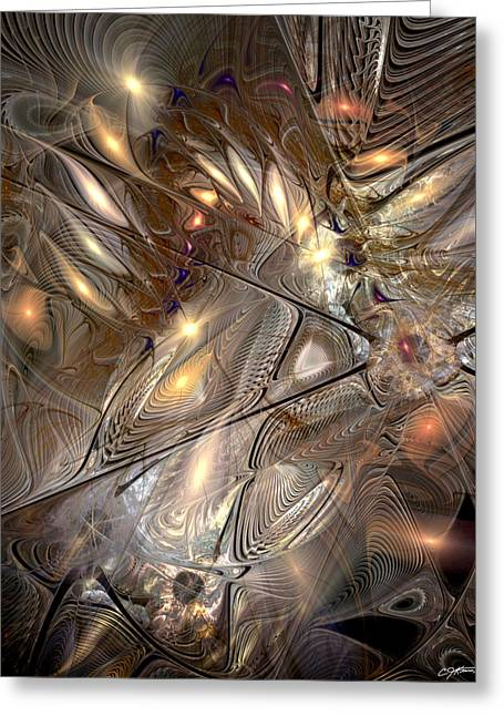 Interpretation Greeting Cards - Disorderly Relativistic Interpretations Greeting Card by Casey Kotas