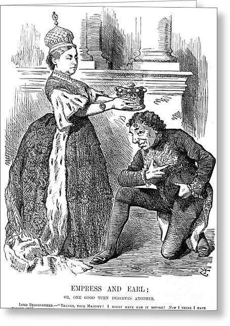 Disraeli Cartoon, 1876 Greeting Card by Granger
