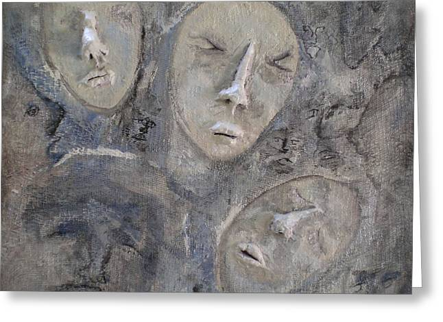 Emotions Reliefs Greeting Cards - Dissociative Greeting Card by Kime Einhorn
