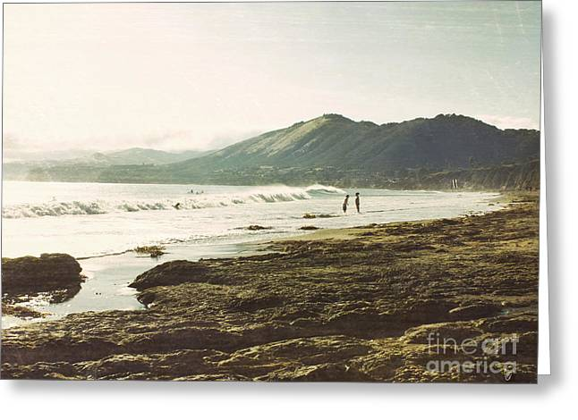 Ocean Vista Digital Art Greeting Cards - Distant conversations Greeting Card by Cindy Garber Iverson