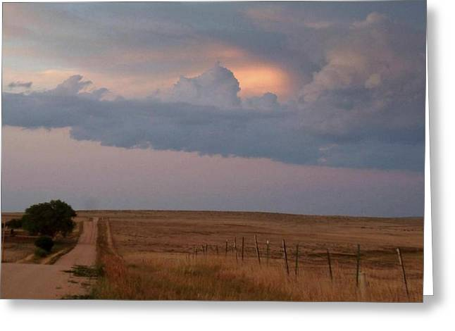 Skys Greeting Cards - Distant Glory.. Greeting Card by Al  Swasey