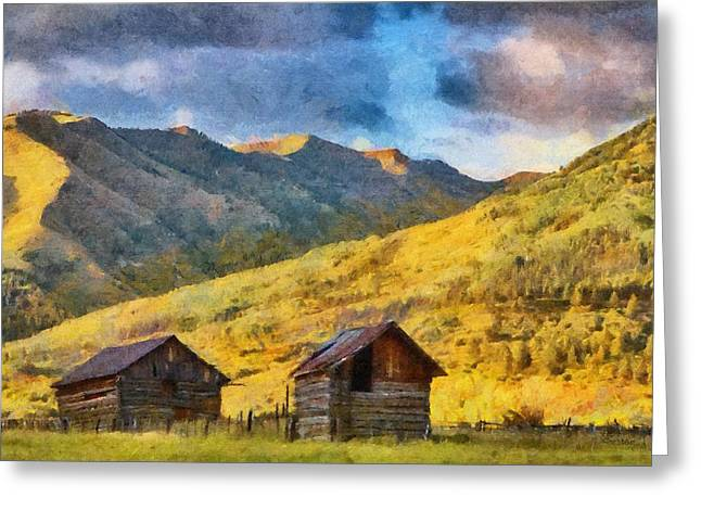 Storm Greeting Cards - Distant Storm Greeting Card by Jeff Kolker