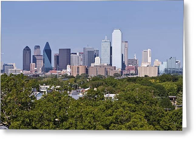 Office Space Greeting Cards - Distant View of Downtown Dallas Greeting Card by Jeremy Woodhouse