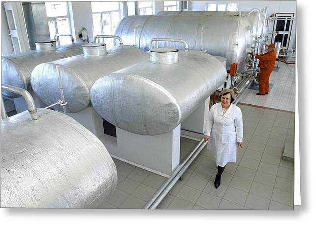 White Smock Greeting Cards - Distillery Filtering Room Greeting Card by Ria Novosti