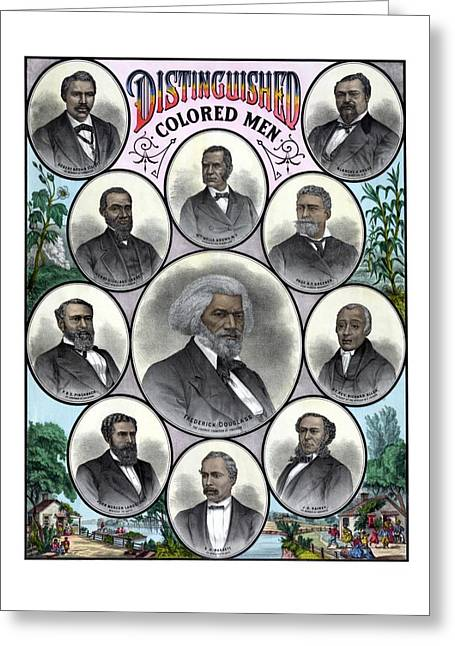 African American Drawings Greeting Cards - Distinguished Colored Men Greeting Card by War Is Hell Store