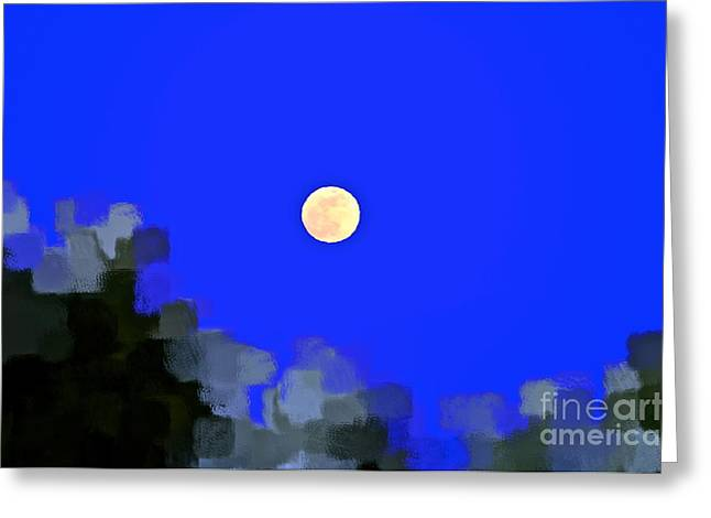 Man In The Moon Greeting Cards - Distortion Greeting Card by Gwyn Newcombe