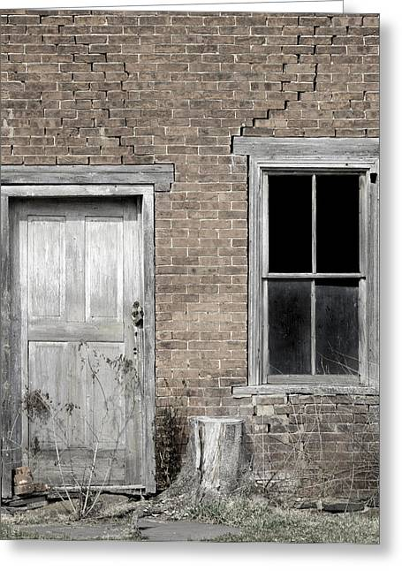 Run Down Greeting Cards - Distressed Facade Greeting Card by John Stephens