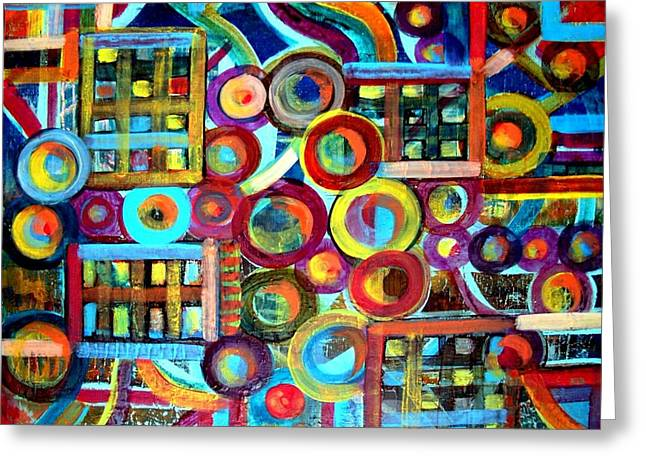 Mechanism Paintings Greeting Cards - Disunited Clock Greeting Card by Aquira Kusume
