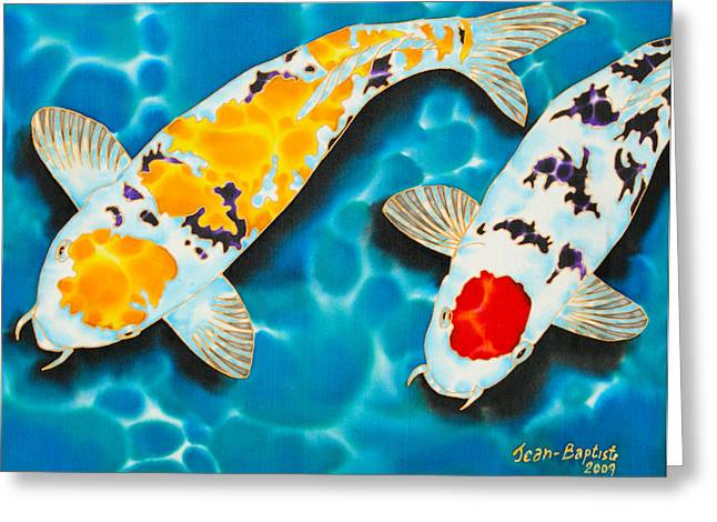 Tropical Wildlife Greeting Cards - Ditsu Koi Greeting Card by Daniel Jean-Baptiste