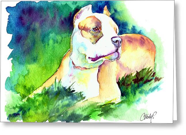 Pitty Greeting Cards - Diva Momma Pit Bull Greeting Card by Christy  Freeman