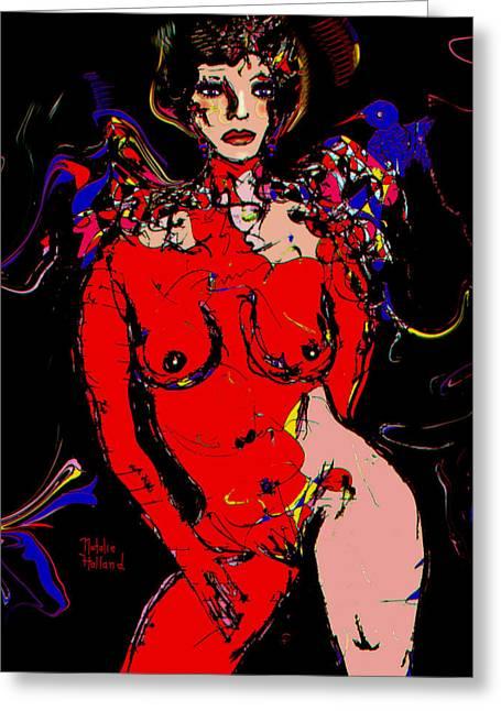 Fleshtones Greeting Cards - Diva Greeting Card by Natalie Holland