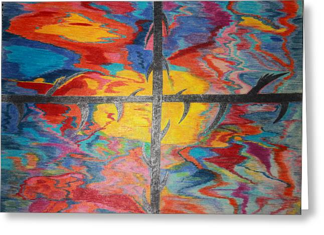 Divine Dusk Greeting Card by Todd Breitling
