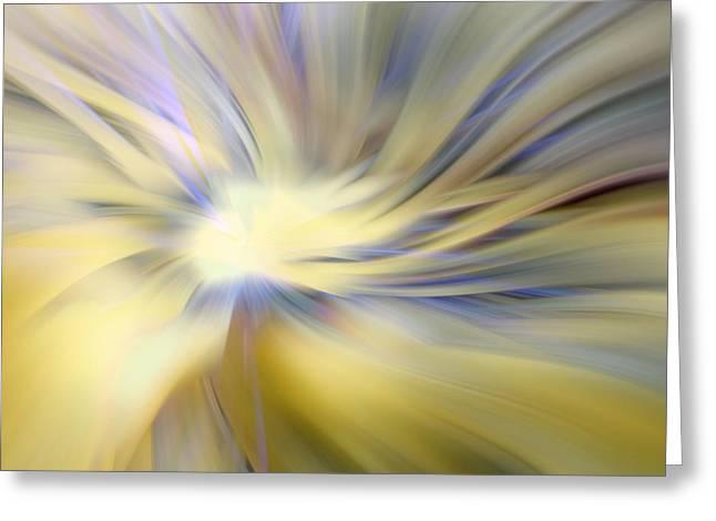 Angel God Greeting Cards - Divine Energy Greeting Card by Lauren Radke