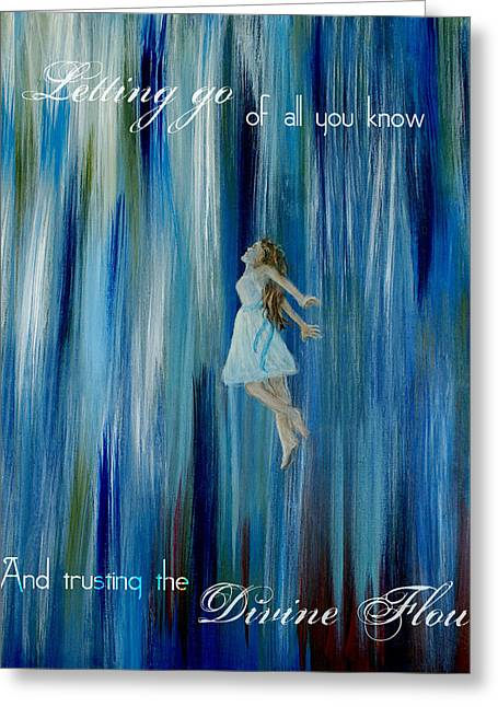 Divine Flow Greeting Card by The Art With A Heart By Charlotte Phillips