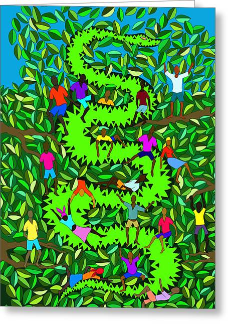 Haitian Digital Art Greeting Cards - Divine Serpent Greeting Card by Dimitri Beaulieu