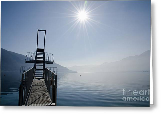 Diving Board Greeting Cards - Diving board Greeting Card by Mats Silvan