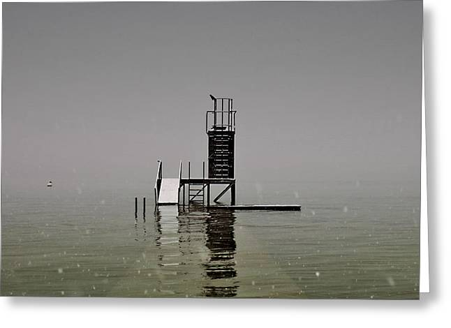 Diving Platform Greeting Card by Joana Kruse