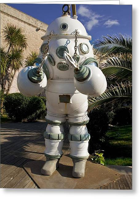 Diving Suit Greeting Cards - Diving Suit Greeting Card by Alexis Rosenfeld