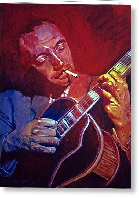 Best Sellers -  - Gypsy Greeting Cards - Django Sweet Lowdown Greeting Card by David Lloyd Glover