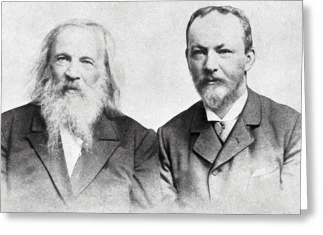 Dmitri Mendeleev And Bohuslav Brauner Greeting Card by Ria Novosti