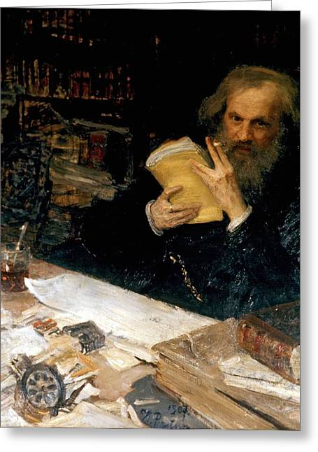 1907 Greeting Cards - Dmitri Mendeleev, Russian Chemist Greeting Card by Ria Novosti