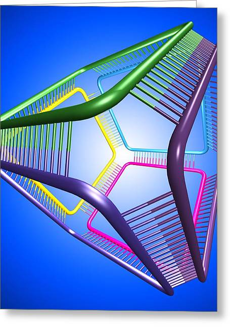 Biochemistry Greeting Cards - Dna Cube, Conceptual Artwork Greeting Card by Pasieka
