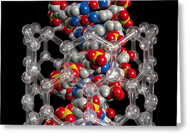 Material Composition Greeting Cards - Dna Nanotechnology, Artwork Greeting Card by Laguna Design