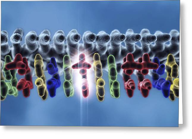 Replacing Greeting Cards - Dna Point Mutation, Artwork Greeting Card by Equinox Graphics