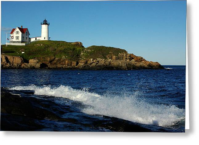 Cape Neddick Greeting Cards - Dnre0608 Greeting Card by Henry Butz