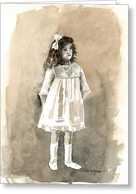 Tomboy Greeting Cards - Do I Have To Wear A Dress Greeting Card by Arline Wagner