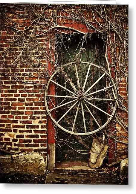 Old Door Greeting Cards - Do not Enter Greeting Card by Lisa Russo