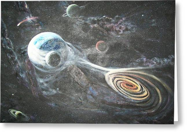 Planet Earth Pastels Greeting Cards - Do You See His Hand? Greeting Card by Connie Sherman