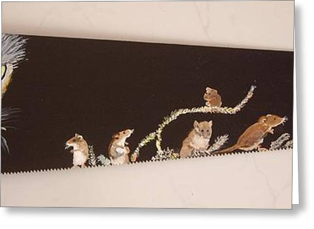 Saw Greeting Cards - Do you think he SAW us Greeting Card by Carole Robins