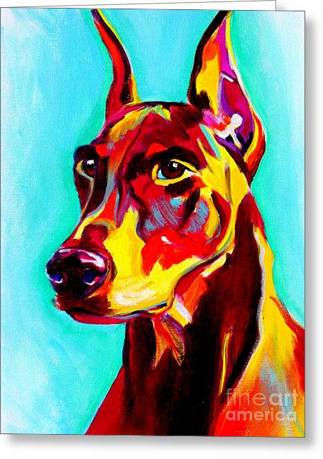 Alicia Vannoy Call Paintings Greeting Cards - Doberman - Prince Greeting Card by Alicia VanNoy Call