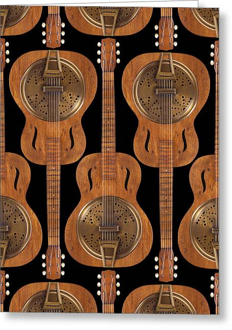 Ivory Art Greeting Cards - Dobro 4 Greeting Card by Mike McGlothlen