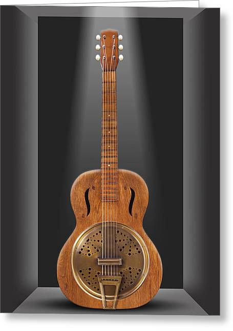 Ivory Art Greeting Cards - Dobro in a Box Greeting Card by Mike McGlothlen