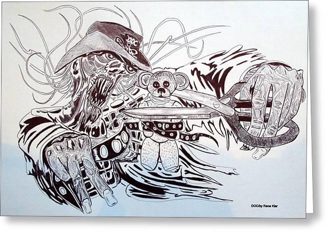 Sceleton Greeting Cards - Doc Greeting Card by Rene  Kier