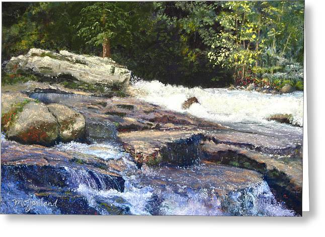 Whitewater Pastels Greeting Cards - Dochart Falls Scottish Highlands Greeting Card by Lorraine McFarland