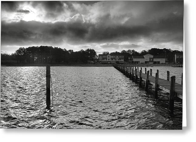 Pier Framed Prints Greeting Cards - Dock And The Bay Greeting Card by Steven Ainsworth